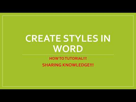 Create a Style in Microsoft Word - Customize Heading Formats