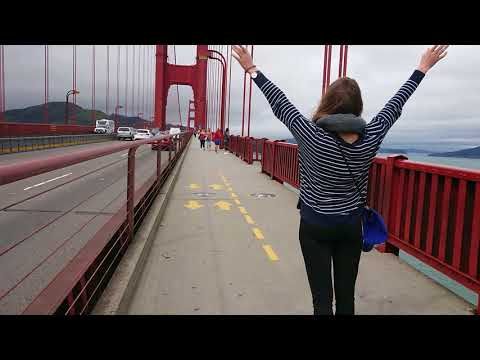 Walking across the Golden Gate Bridge - From San Francisco Side - March 21, 2018 - 1 of 2 Unedited