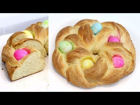 How to Make Braided Easter Egg Bread Ring   Homemade Egg Bread   Homemade Bread   RECIPE