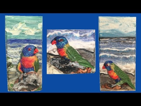 "Making ""Australian Lorikeet at the Beach"" Cold Process Artistic Soap"