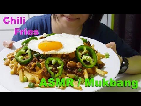 Huge Ass Plate of Chili Fries : ASMR / Mukbang ( Cooking & Eating Sounds )