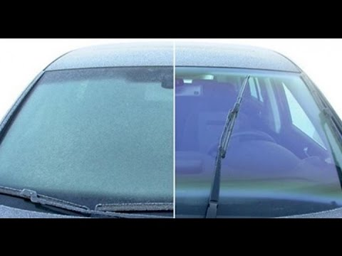 How to clear ice off your windshield of you car ! easy and 100% works