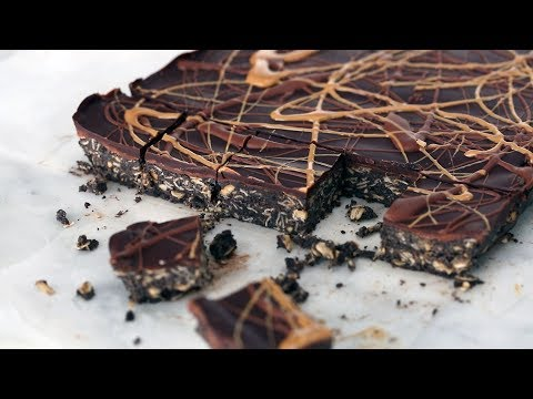 No-Bake Chocolate and Peanut Butter Oatmeal Bars- Everyday Food with Sarah Carey