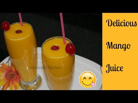 How To Make Delicious Mango Juice At Home 😋