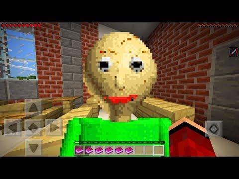 I FOUND BALDI in Minecraft Pocket Edition