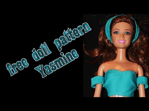Make your own doll clothes - Jasmine normal outfit