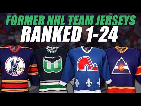 Former NHL Teams Jerseys Ranked 1-24