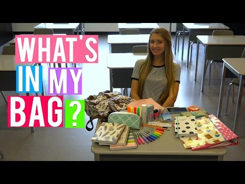 What's in my bag ? | BACK 2 SCHOOL 2015