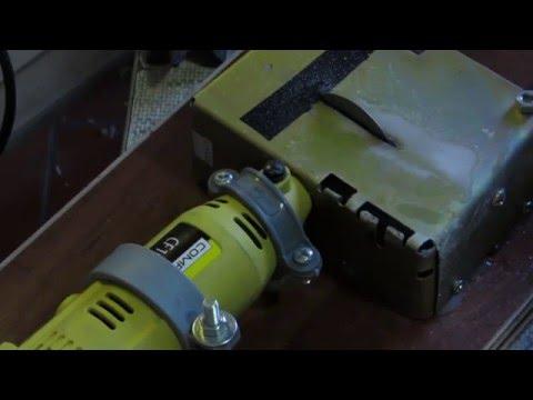 How to make a gemstone cutting machine homemade