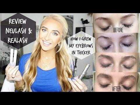GROWING EYELASHES & EYEBROWS | BEFORE & AFTER