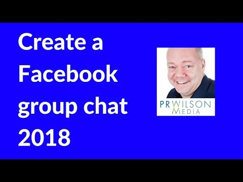How to create a group chat on Facebook 2018