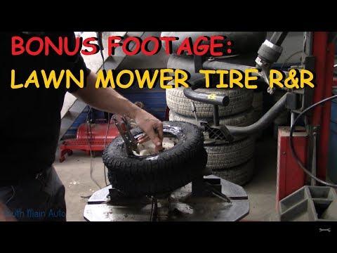BONUS FOOTAGE: Lawn Mower Tire Remove & Replace Part III