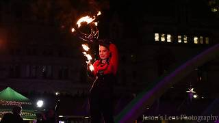 Cavalcade of Lights 2017 | Fire Play Act | Nathan Phillips Square Toronto