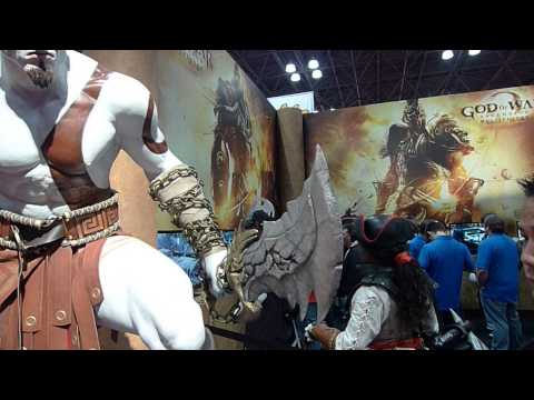 God of war Ascension booth at NY Comic Con Jacob Javits Center