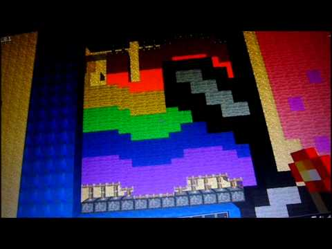 MINECRAFT - nyan cat with moving rainbow