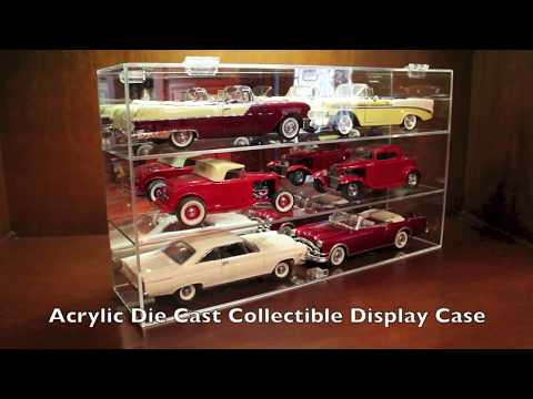 Acrylic 1:18 Scale Replica Diecast Model Display Case 06DU at California Car Cover