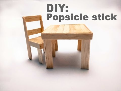 DIY: How To Make a Popsicle Stick Chair and Table