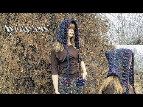 HOW TO CROCHET - CROCHET HOOD |  The Ribbed Riding Hood Hat | BAGODAY CROCHET Tutorial #464