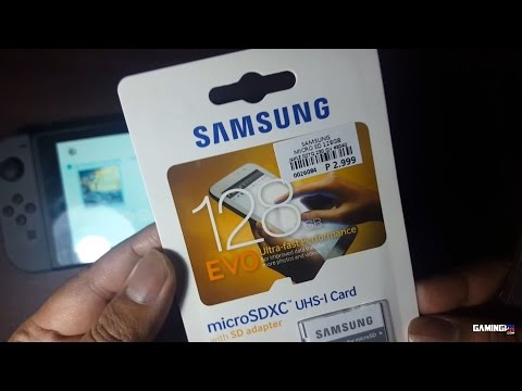 Samsung Micro SD 128GB for Nintendo Switch Unboxing and Testing
