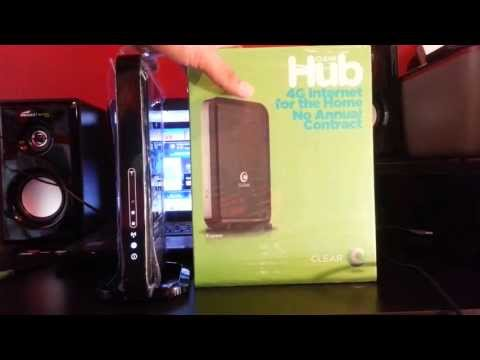 Clear Hub 4G Internet for the home quick review speed test.