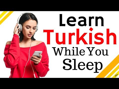 Learn Turkish While You Sleep 😀  Most Important Turkish Phrases and Words 😀 English/Turkish (8 Hour)