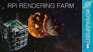 Raspberry Pi Cluster Blender Rendering Farm