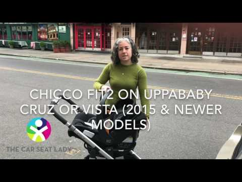 Chicco Fit2 on UPPAbaby stroller (Cruz or Vista)