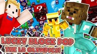 Minecraft LUCKY BLOCK POP MOD BATTLE! - Minecraft Modded Lucky Block Olympics FINAL ROUND!