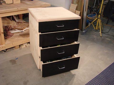 61  Build a simple mobile shop storage cabinet part 2