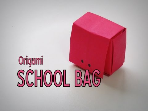 Origami - How to make a SCHOOL BAG