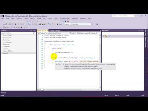 C# - How to build Hello World GUI Application