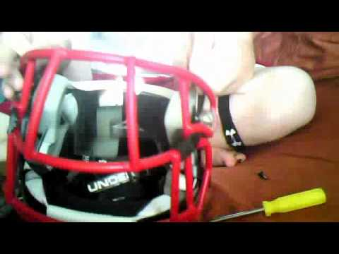 How to put Oakley football visor on Custom Revo Speed Facemask