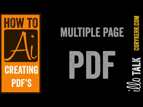 Making multiple page PDFs from Illustrator (how to ai)