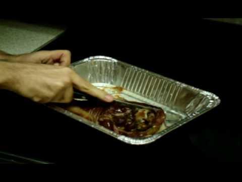 Giant Smoked Turkey Leg recipe with Bok Choy - no carbs