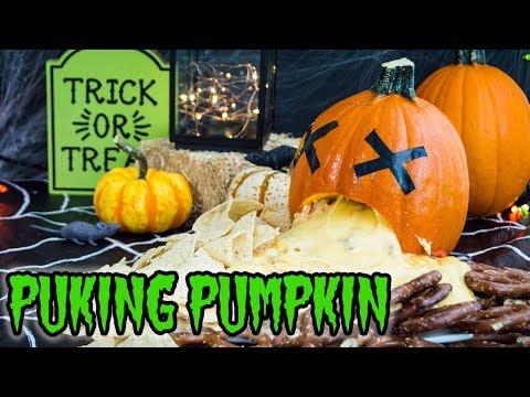 Puking Pumpkin Nachos   HALLOWEEN RECIPES   The Starving Chef