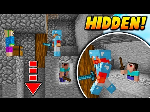 HIDDEN PLAYER GLITCH TRAP! - Minecraft SKYWARS TROLLING (BANNED TRAP!)