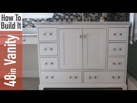 How to build a 48in Bathroom Vanity