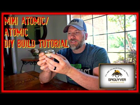 DIY Tutorial Atomic or Mini Atomic type alcohol stove