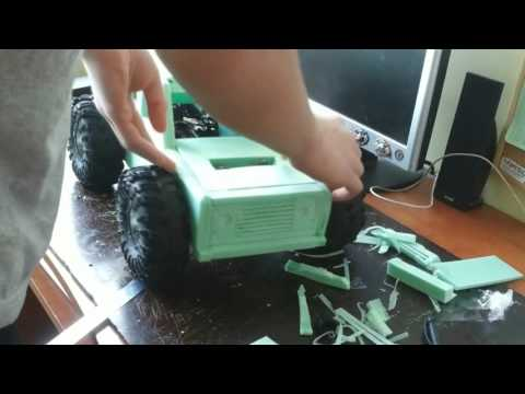How to make RC car body shell LAND ROVER Defender 110