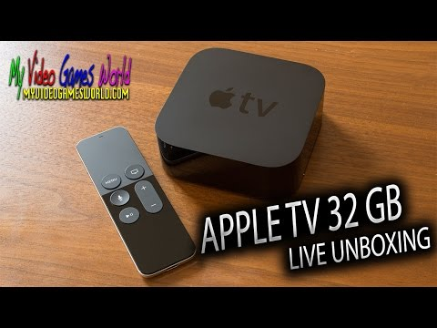 LIVE UNBOXING   APPLE TV 32 GB   MY VIDEO GAMES WORLD