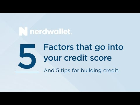 The 5 things that make up your credit score