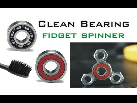How to Clean Ball Bearings for Fast Fidget Spinners - Make Fidget Spinner at Home