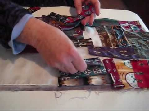 Using Silk Ties to Create Beautiful Scarves by PAT STATZER.wmv