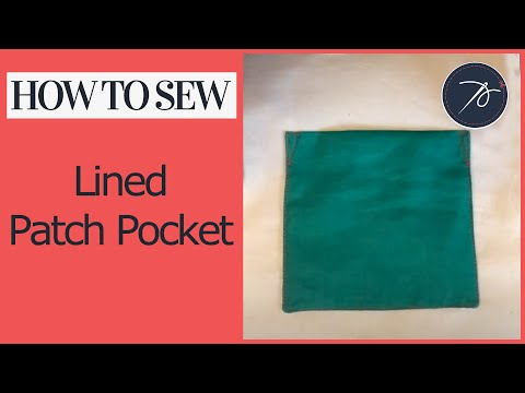 How to create a lined patch pocket