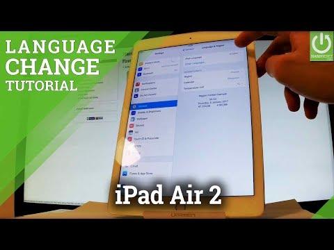 APPLE iPad Air 2 Change Language - Language Settings