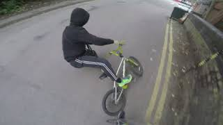 Phone thief thrown off cycle! (Phone thief VS Biker)