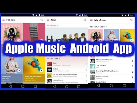 Apple Music App is Now available  for Android.  You Can get it from Google Play Store