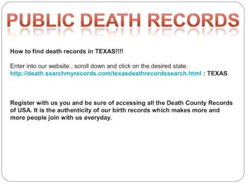 Public Death Records