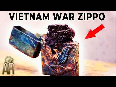 Zippo lighter restoration - Vietnam War repair
