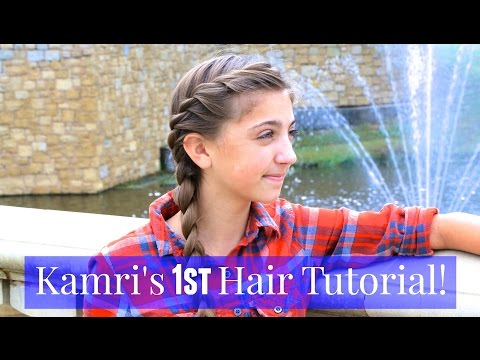 French Twist into Side Braid | Kamri's 1st Tutorial